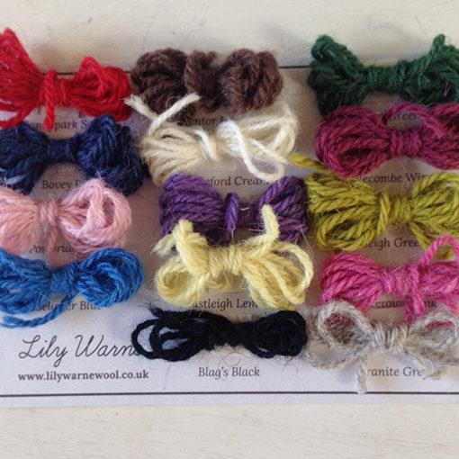 Wool Sample Card