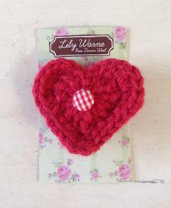 Lily Loves Valentine Heart Brooch