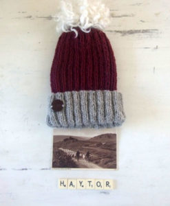 Hay Tor Hat with Pom Pom