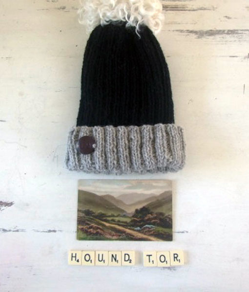 Hound Tor Hat with Pom Pom