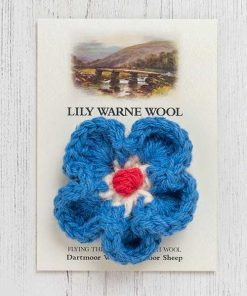 Daisy Brooch Bellever Blue