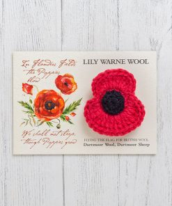 Poppy Brooch Sandypark Scarlet