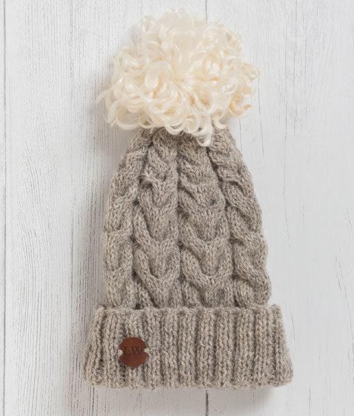 Luxury Pom Pom Hat - Granite  58f91871f7a