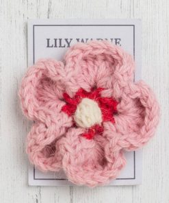 Daisy Brooch – Strawberries and Cream - pink