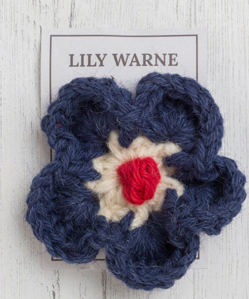 England brooch in bovey blue