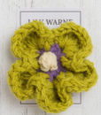 daisy brooch in gidleigh green