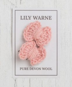 Darling Bow Hairgrips Postbridge Pink