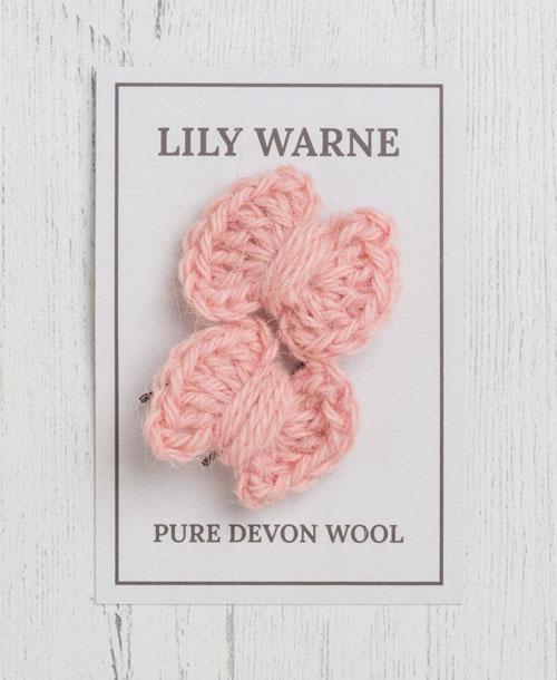 Darling Bow Hairgrips Postbridge Pink