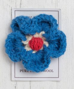 England brooch in bellever blue