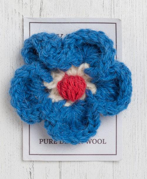 England brooch in bellever blue