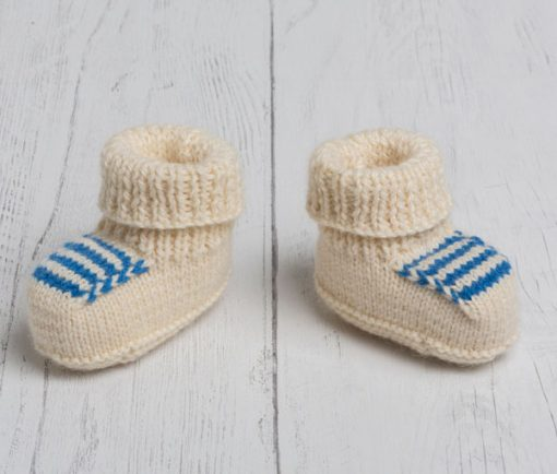 Lily Lamb Booties in Blue