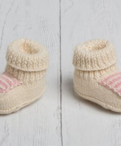 Lily Lamb Booties in Pink