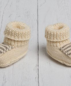 Lily Lamb Booties in Cream