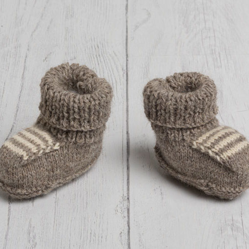Lily Lamb Booties in Grey