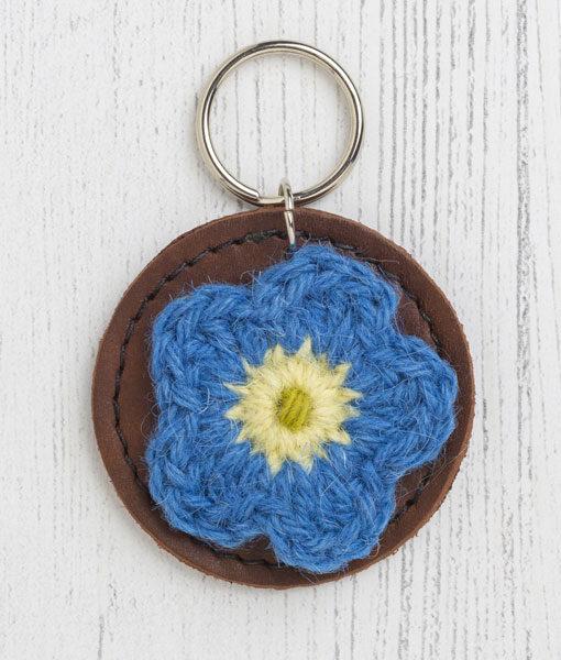 Flower keyfob blue