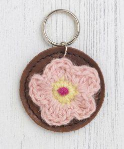 Flower keyfob pink