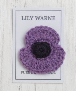 Poppy Brooch in Mauve