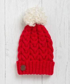 Sandypark Scarlet Pom Pom Hat