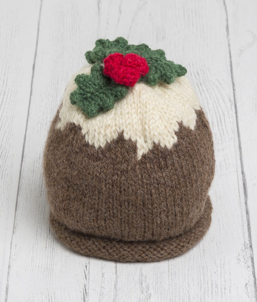 Christmas Baby Pudding Hat Lily Warne Wool
