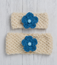 Blue Ewe and Lamb Pure Devon Wool Moss Stitch Headband Kit