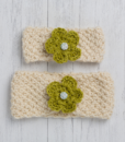 Green Ewe and Lamb Pure Devon Wool Moss Stitch Headband Kit