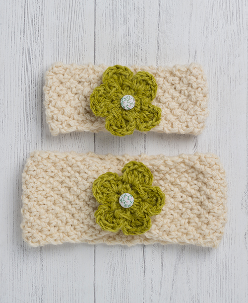Ewe and Lamb Pure Devon Wool Moss Stitch Headband Kit