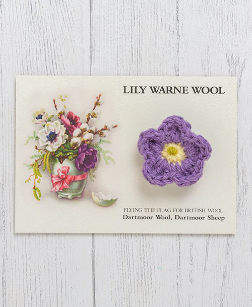 Forget-me-not Brooch Mauve