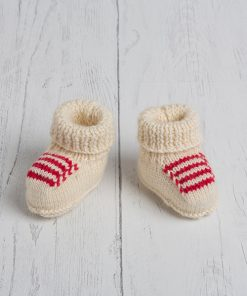 Lily Lamb Baby Booties Scarlet