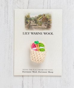 Little Basket of Wool Brooch