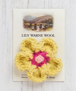 Daisy Brooch Lemon