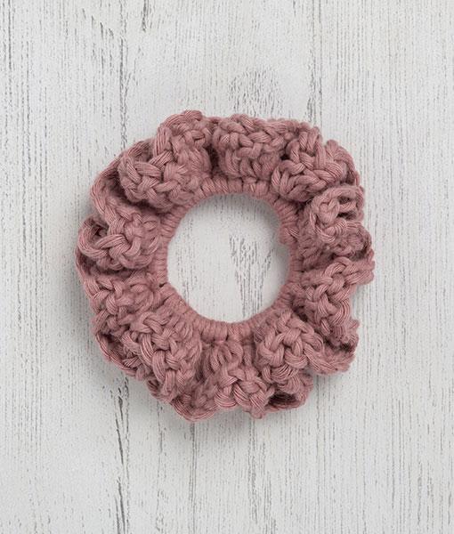 Cotton Scrunchie Mauve
