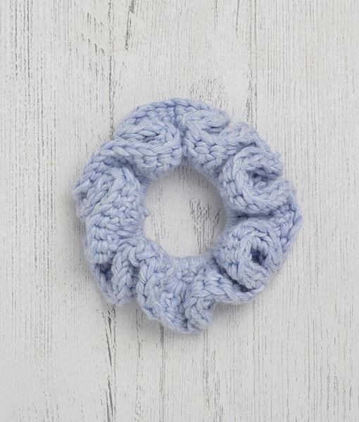 Cotton Scrunchie Blue