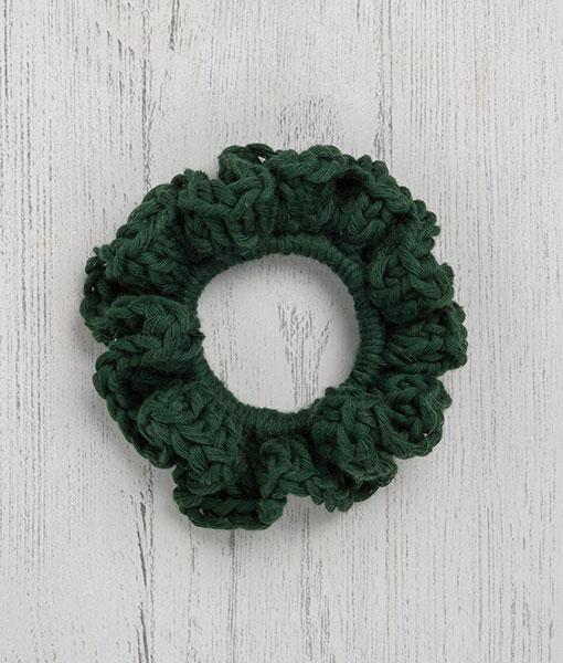 Cotton Scrunchie Green