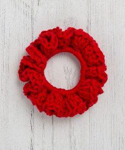 Cotton Scrunchie Red