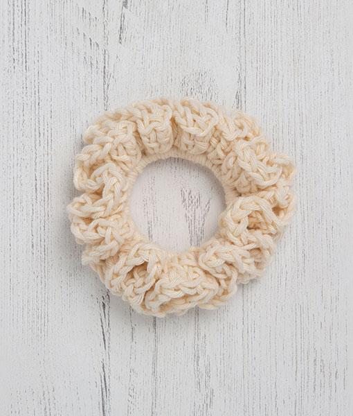 Cotton Scrunchie Cream