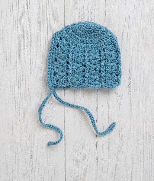 Lily Lamb Bonnet Bluebell