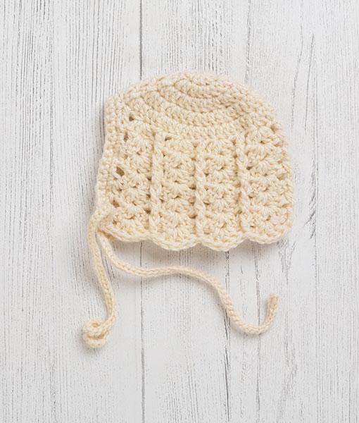 Lily Lamb Bonnet Clotted Cream