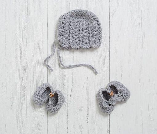Lily Lamb Newborn Gift Set Bunny Grey