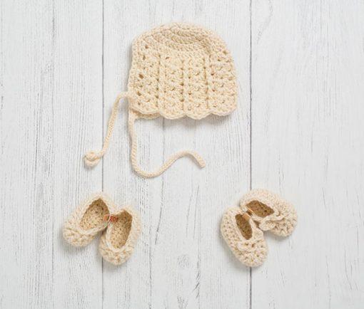 Lily Lamb Newborn Gift Set Clotted Cream